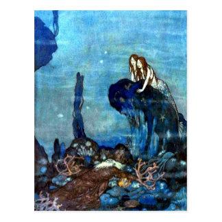 Die Vintage Kunstpostkarte 2 der kleinen Postkarte