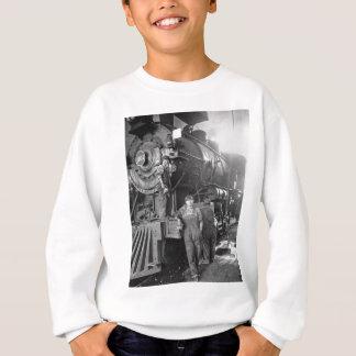 Die Vintage Lokomotive Roundhouse-Gallonen Sweatshirt