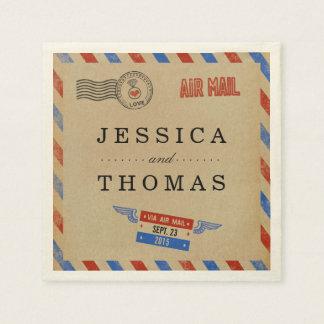 Die Vintage Luftpost-Hochzeits-Sammlung Papierservietten