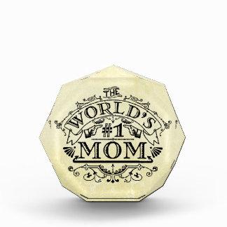 Die Vintage Mamma der Welt der Zahl-eine blühen Auszeichnung
