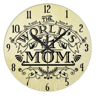 Die Vintage Mamma der Welt der Zahl-eine blühen Große Wanduhr