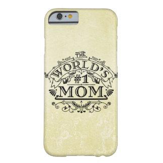 Die Vintage Mamma der Welt der Zahl-eine blühen Barely There iPhone 6 Hülle