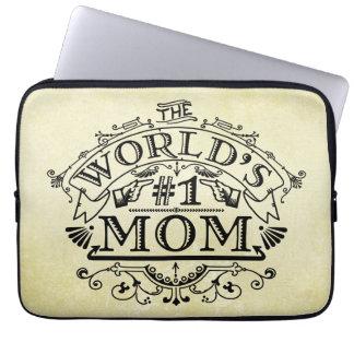 Die Vintage Mamma der Welt der Zahl-eine blühen Laptopschutzhülle