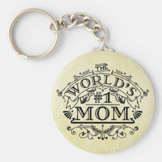 Die Vintage Mamma der Welt der Zahl-eine blühen Schlüsselanhänger