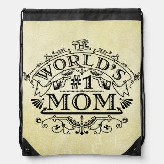 Die Vintage Mamma der Welt der Zahl-eine blühen Turnbeutel