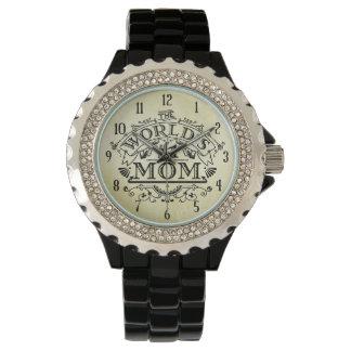 Die Vintage Mamma der Welt der Zahl-eine blühen Uhr