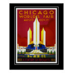 Die Vintage Messe Reise-Plakat-Chicago-Welt groß