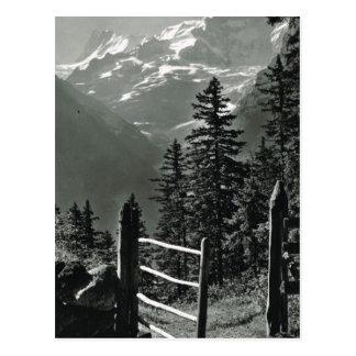Die Vintage Schweiz Jungfrau, Bernese Oberland Postkarte