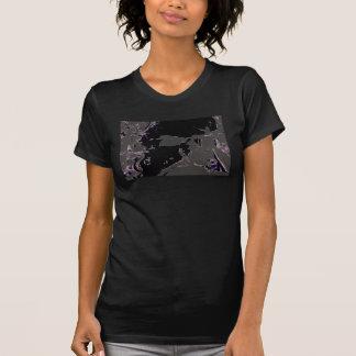 Die Vintage Spitze der schwarzen Frauen, T-shirt