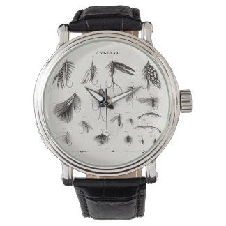 Die Vintagen 1800s, die Fliegen-Fischen angeln, Armbanduhr