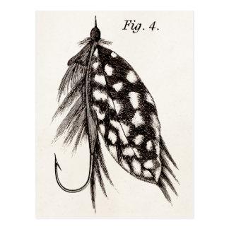 Die Vintagen 1800s, die Fliegen-Fischen angeln, Postkarte
