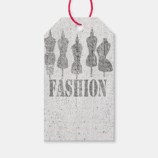 Die Vintagen Mannequins für Mode-Butike Geschenkanhänger