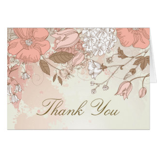 Die Vintagen rustikalen Frühlings-Blumen danken Grußkarte