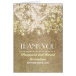 die Vintagen wedding Schnurlichter danken Ihnen Grußkarten