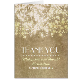 die Vintagen wedding Schnurlichter danken Ihnen Karte