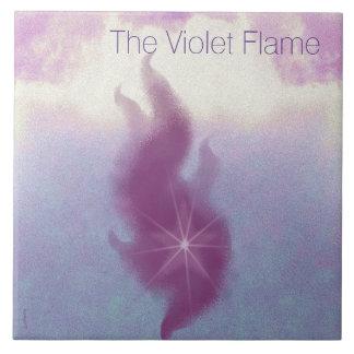 Die violette Flammen-Altar-Kunst Keramikfliese