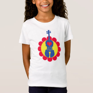 Die Violinen-T - Shirt des Mädchens