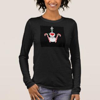 Die Violinen-Weihnachtst-shirt der Frauen Langarm T-Shirt