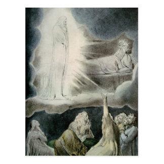 Die Vision von Eliphaz, 1825 Postkarte