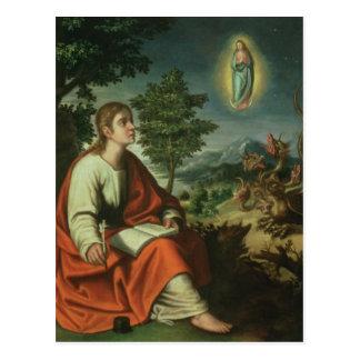 Die Vision von Johannes der Evangelist auf Patmos Postkarte