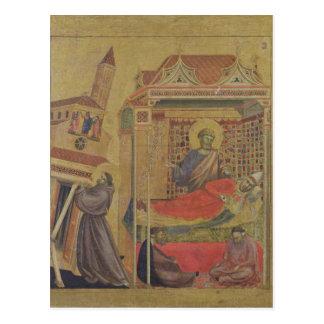 Die Vision von Papst Innocent III, c.1295-1300 Postkarte