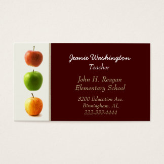 Die Visitenkarte des eleganten Apfel-Lehrers