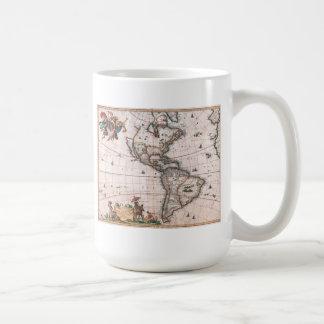 Die Visscher Karte der neuen Welt Kaffeetasse