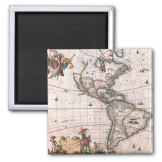 Die Visscher Karte der neuen Welt Quadratischer Magnet