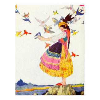 Die Vögel aller Welten Postkarte