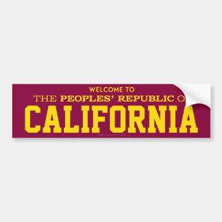 Die Volksrepublik von Kalifornien-Aufklebern Autoaufkleber