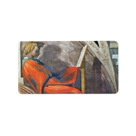 Die Vorfahren von Christus 2 durch Michelangelo Adressaufkleber