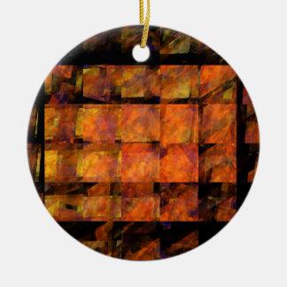 Die Wand-abstrakte Kunst-Kreis-Verzierung Rundes Keramik Ornament