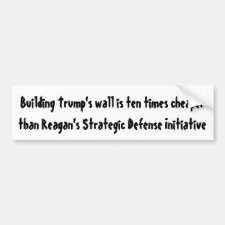Die Wand des Gebäude-Trumpfes ist zehnmal… Autoaufkleber