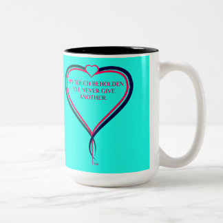 Die Wärme der Liebe Zweifarbige Tasse
