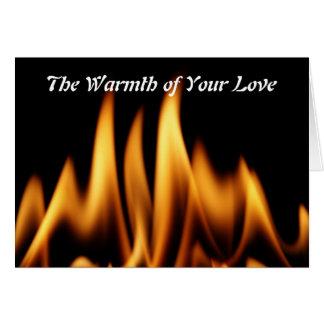 Die Wärme Ihrer Liebe Karte