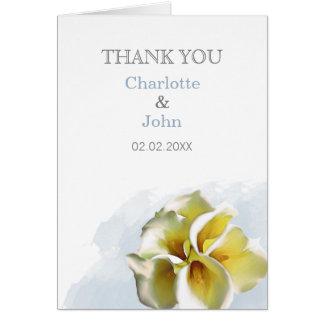 die Wedding Aquarell Callalilien danken Ihnen Karte