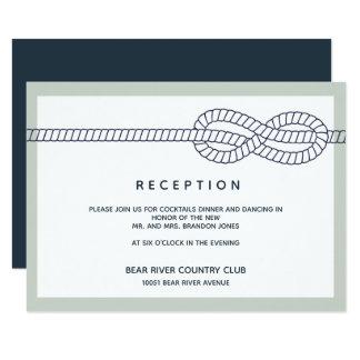 Die Wedding Empfangs-Einschließung des Anker-  Karte