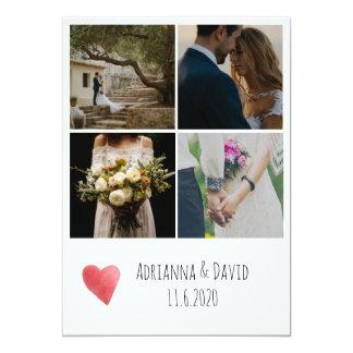Die Wedding Fotos des Böhme-vier danken Ihnen Karte