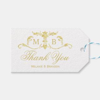 Die Wedding GoldGastgeschenk Geschenkanhänger