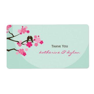 Die Wedding Kirschblüten-Liebe-Vögel danken Ihnen
