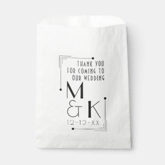 Die Wedding Kunst-Deko-Artzwanziger jahre danken Geschenktütchen