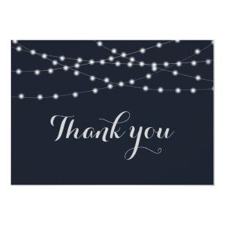 Die wedding Schnurlichter danken Ihnen 12,7 X 17,8 Cm Einladungskarte