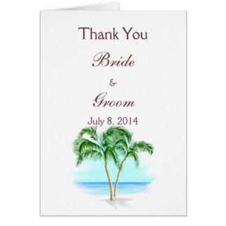 Die Wedding Strand-und Palmen danken Ihnen Karte