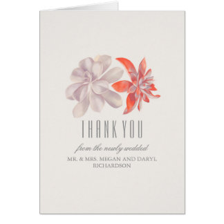 Die Wedding Succulents danken Ihnen Karte