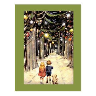 Die Weg-unten Weihnachtsalten Zeiten Postkarte