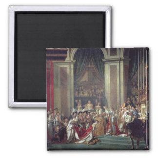 Die Weihe des Kaisers Napoleon Quadratischer Magnet