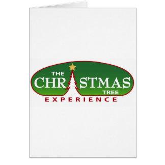 Die Weihnachtsbaum-Erfahrung Karte