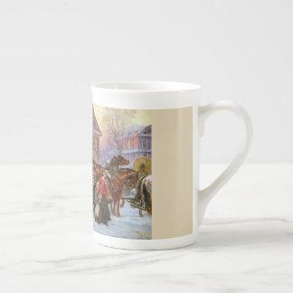 Die Weihnachtstrainer-Knochen-China-Tasse Porzellantasse