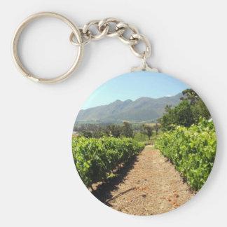 Die Weinberge in Franschhoek, Südafrika Schlüsselanhänger