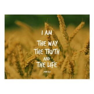 Die Weise die Wahrheit der Leben-Bibel-Vers Postkarten